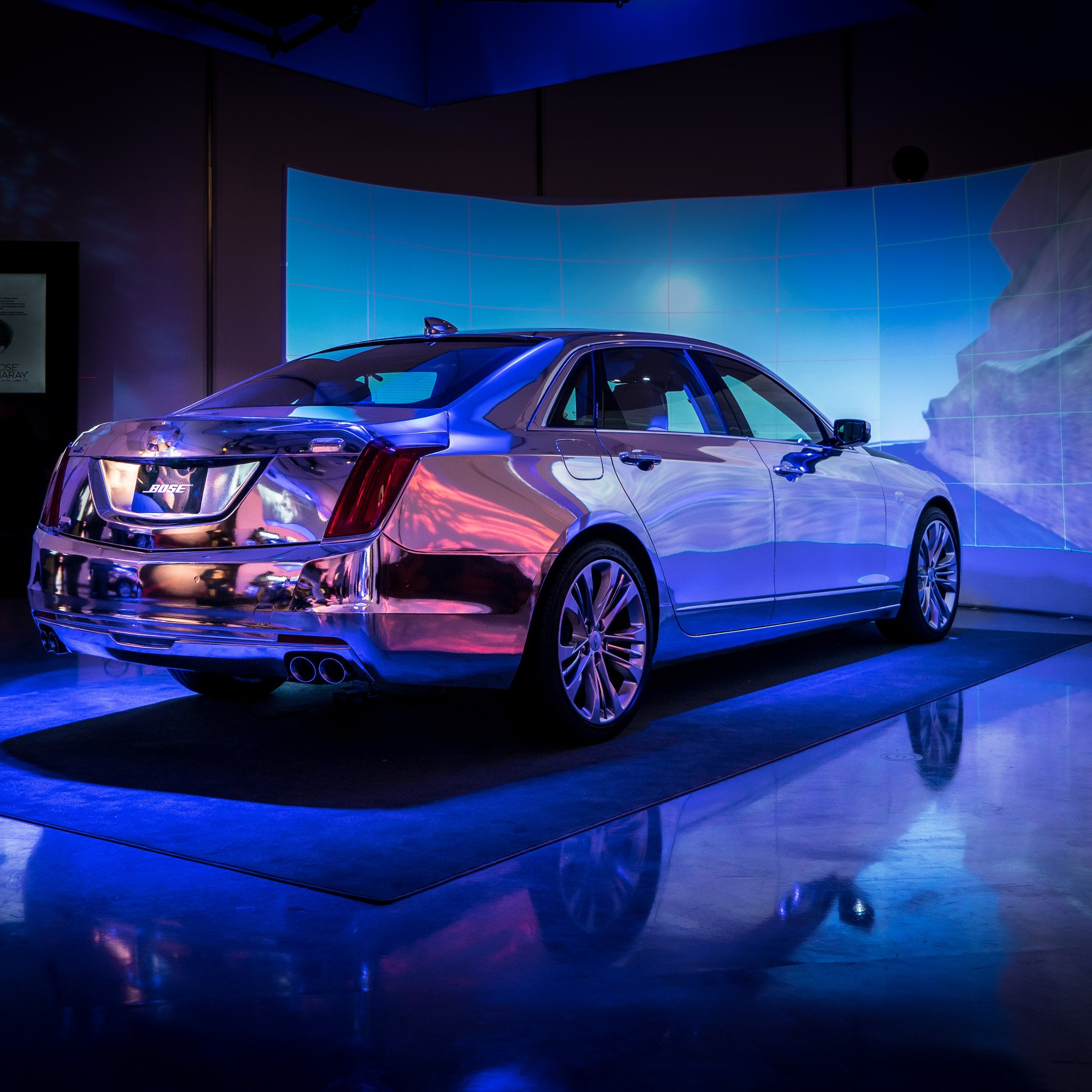 Experience the affecting power of @Bose Panaray in the first-ever #Cadillac #CT6, now on display at #CES2016 https://t.co/vSrIMxOgKY