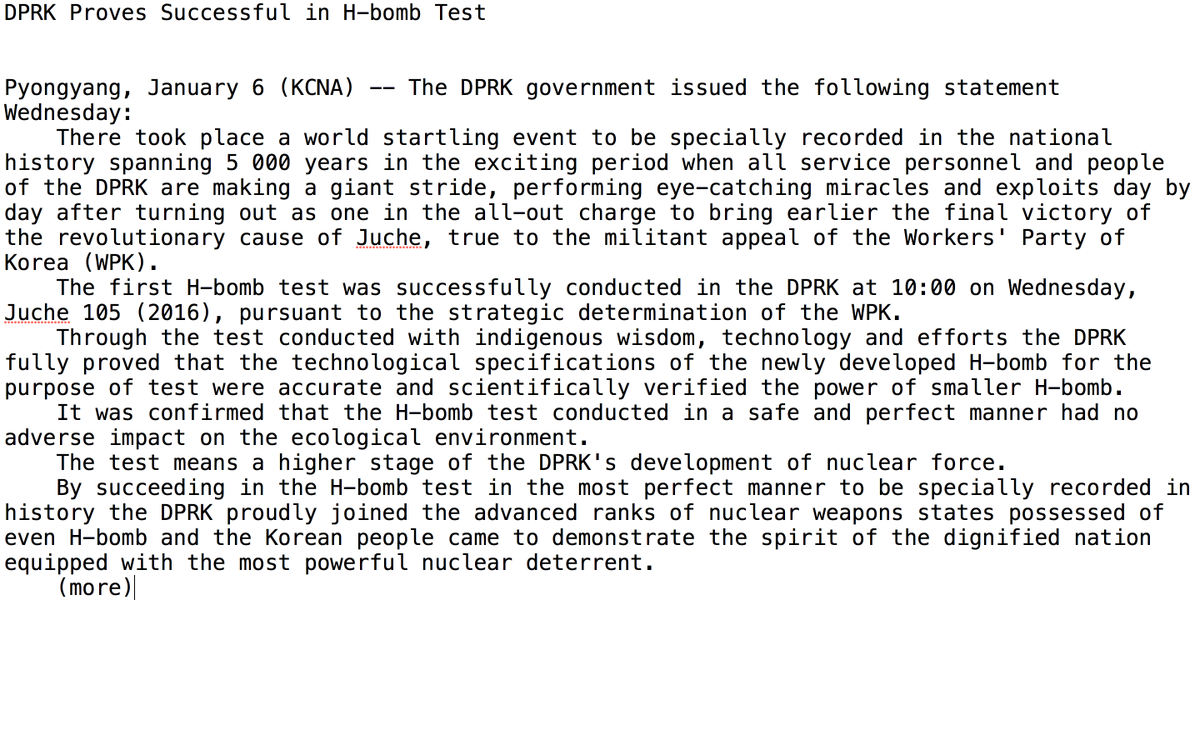 Here's the English bulletin from KCNA, North Korea's central news agency https://t.co/ucgqACD5ob