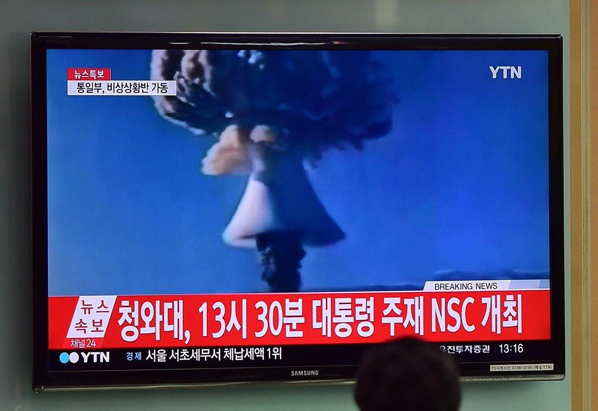 【画像】 北朝鮮 水爆実験 「きのこ雲」