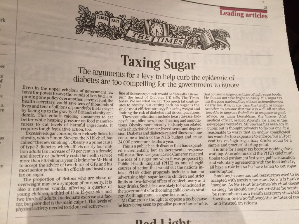 The case for a sugar tax gathers momentum @DrAseemMalhotra https://t.co/a3DfvMAPbo