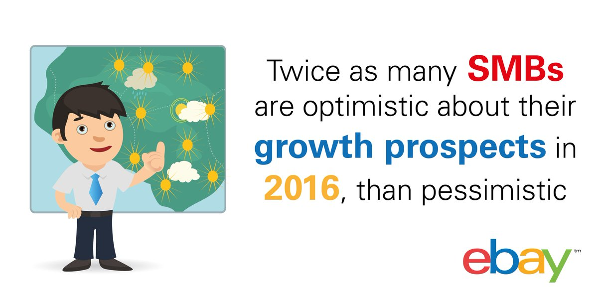 NEW eBay Small Business Optimism Index highlights the forecast for #growth in 2016 https://t.co/d9UQSBAsAP