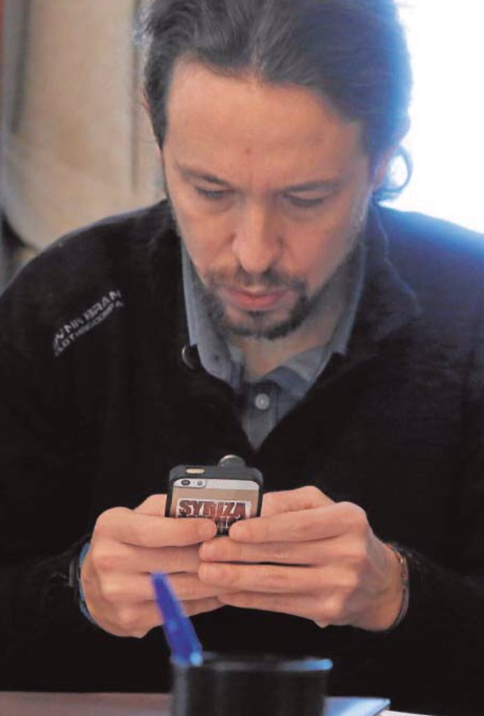 A Iglesias le pillan una pegata de apoyo a Syriza el mismo día que Tsipras recorta un 35% las pensiones #malasuerte https://t.co/FmtrSlg7Xb