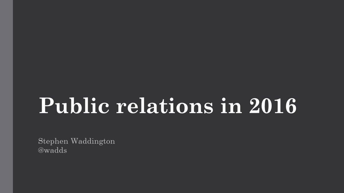 Freshly blogged > Public relations in 2016: 16 areas of change https://t.co/5XpjtMidVT https://t.co/SDOGVWdJ5Q