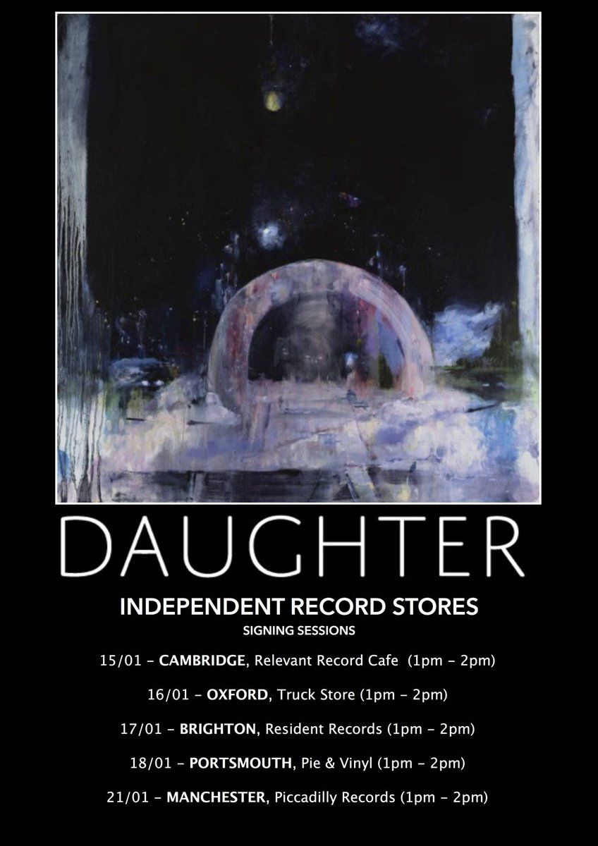 @ohdaughter signing session in our shop, Thurs 21 Jan, 1 - 2pm!! https://t.co/0orOfmDtoI