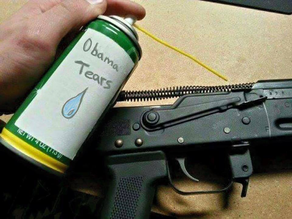 We hear it cleans #guns rather well #ObamaTears https://t.co/IwGu5LO6La