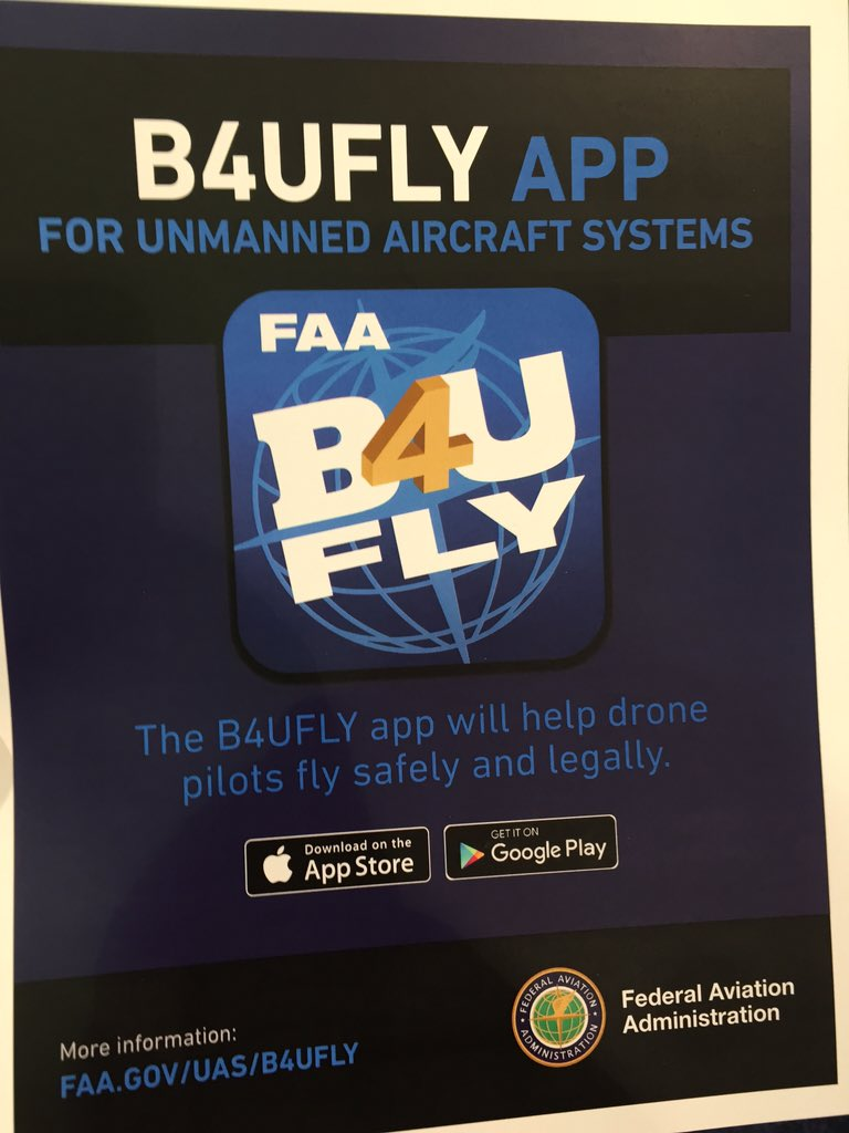 RT @FlyResponsibly: The @FAANews's B4UFly app is now available on Apple and android devices. Download now https://t…