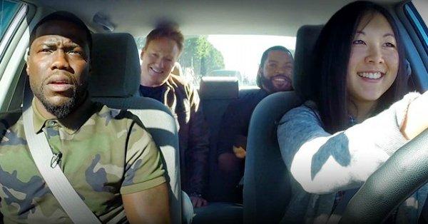 Ice Cube, Kevin Hart & Conan O'Brien torment a student driver: