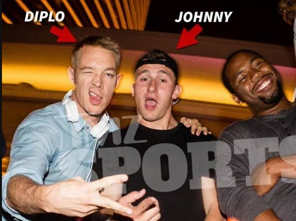 Clarifying we DID NOT doctor this FAKE image of Johnny Manziel on the right. More: