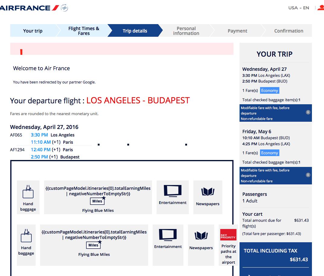RT @airfarewatchdog: LAX-Budapest $631 RT Air France  lots of winter/spring dates