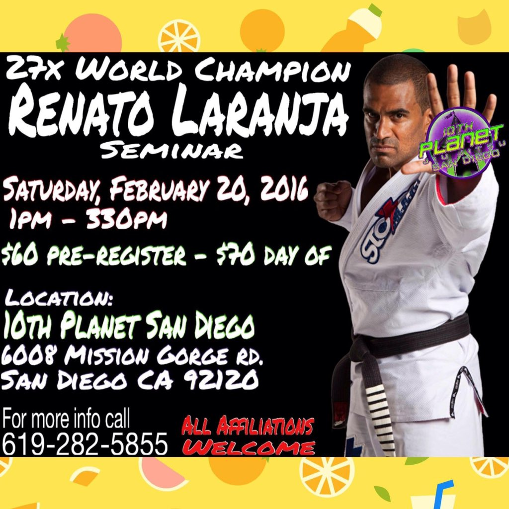 I'm proud to announce that #10thpSD is hosting a @Renato_Laranja seminar. https://t.co/wIAVyt0sd9