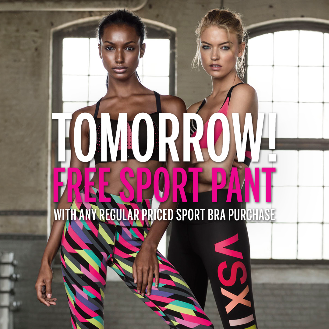 We told u it was EPIC: FREE sport pant w/ sport bra purch, in stores & online. #ThisIsEpic https://t.co/VqOQ1YWc8w https://t.co/DXioQ4jvAB