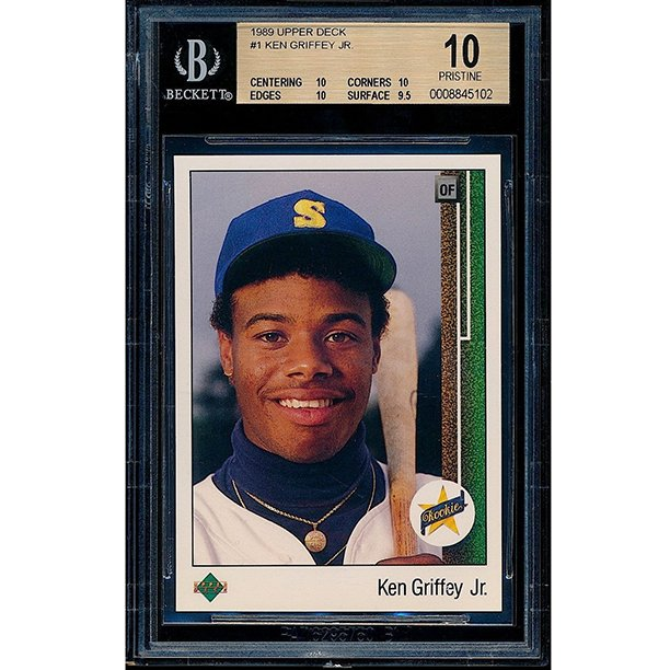 Griffey gets 437 of 440 votes for the #HOF. The writers who didn't vote for him think this card has dinged corners. https://t.co/Mp8cPtfBaW