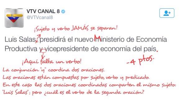 Nuestro idioma es célebre por su flexibilidad gramatical, pero los periodistas de @VTVcanal8 se excedieron. https://t.co/xY50QunzFM