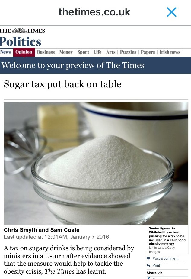 Good to see sugary drinks tax back on the table. Over to you @david_cameron RT https://t.co/XAdV8kUF8Z https://t.co/8bV9KoRYo9