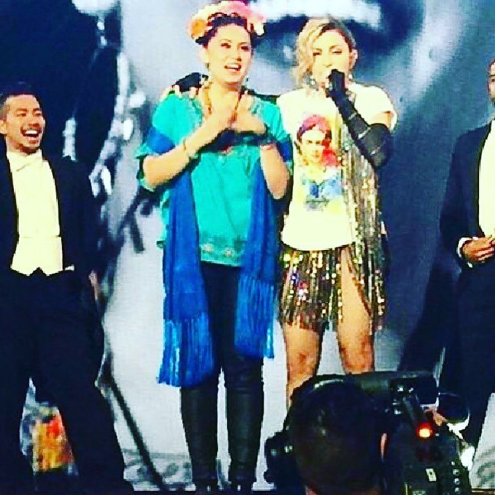 I always wanted to share the stage with Frida My Hero ‼️. my Unapologetic Bitch????❤️ #rebelhearttour https://t.co/19qWcfueP6