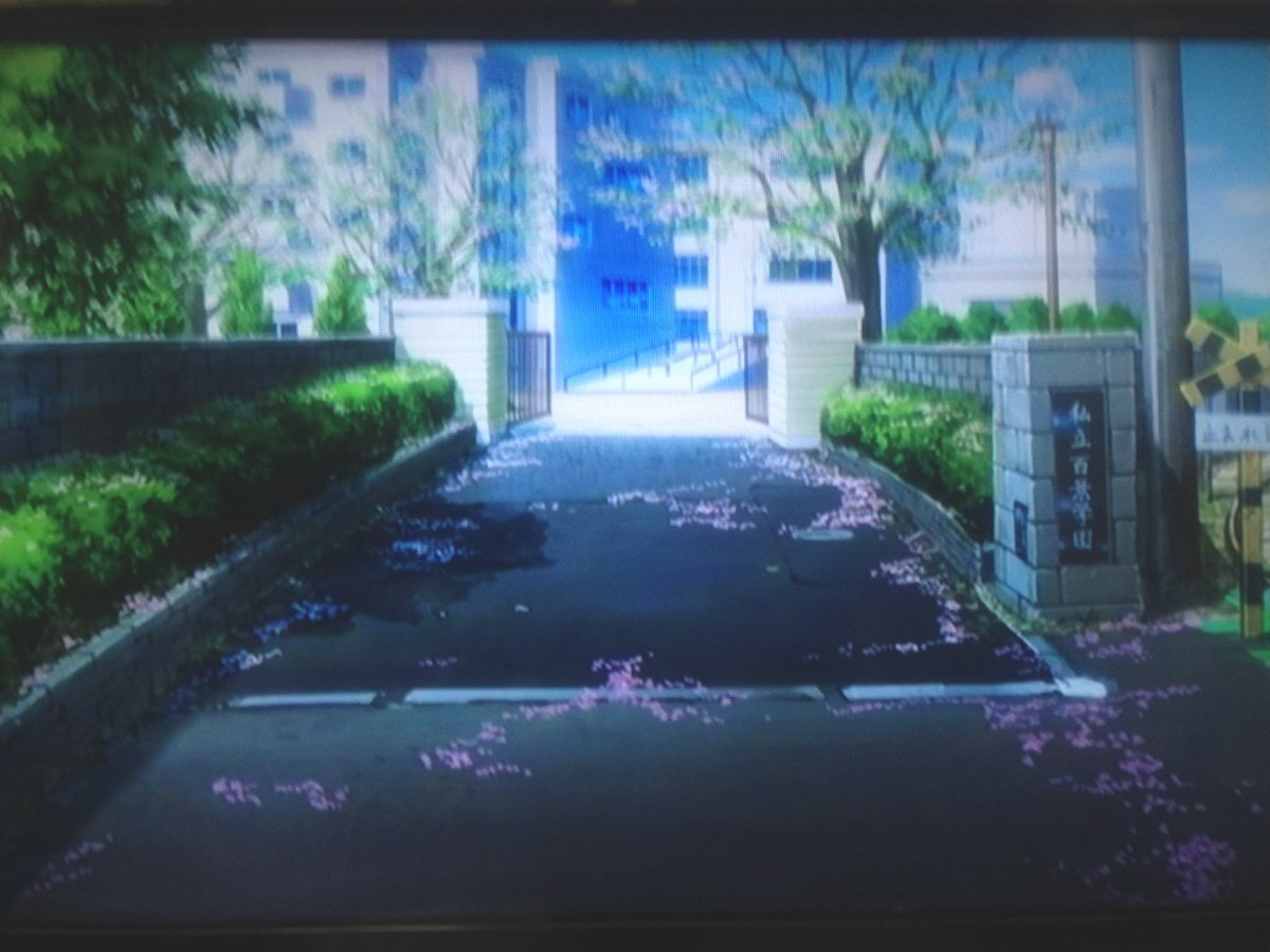 少女たちは荒野を目指すに出てくる学校、私立百景学園は金沢八景駅のすぐ裏にある横浜市立金沢高等学校がモデルですね。この金沢