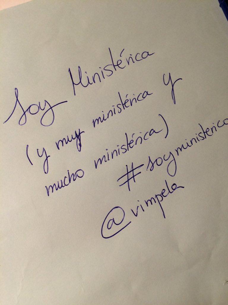 Soy ministérica #SoyMinisterico  cc @MdT_TVE https://t.co/KnybBTT3kl