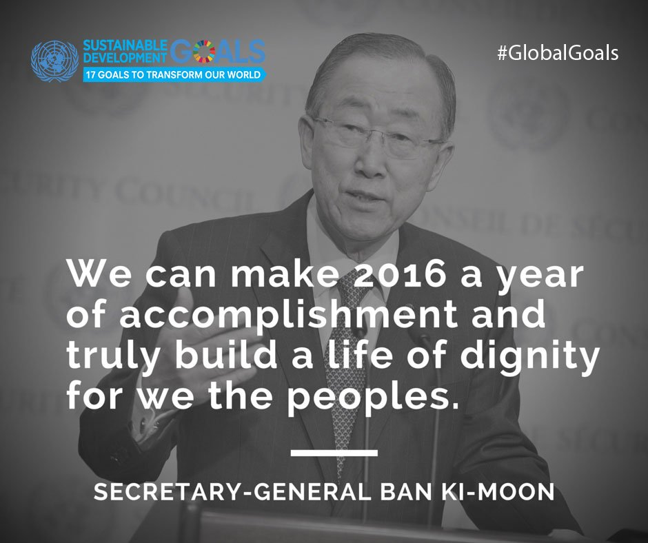 We agree with Ban Ki-moon - let's make 2016 the best year yet for our planet & its people! #SDGs #GlobalGoals https://t.co/QweCtQS4Jj
