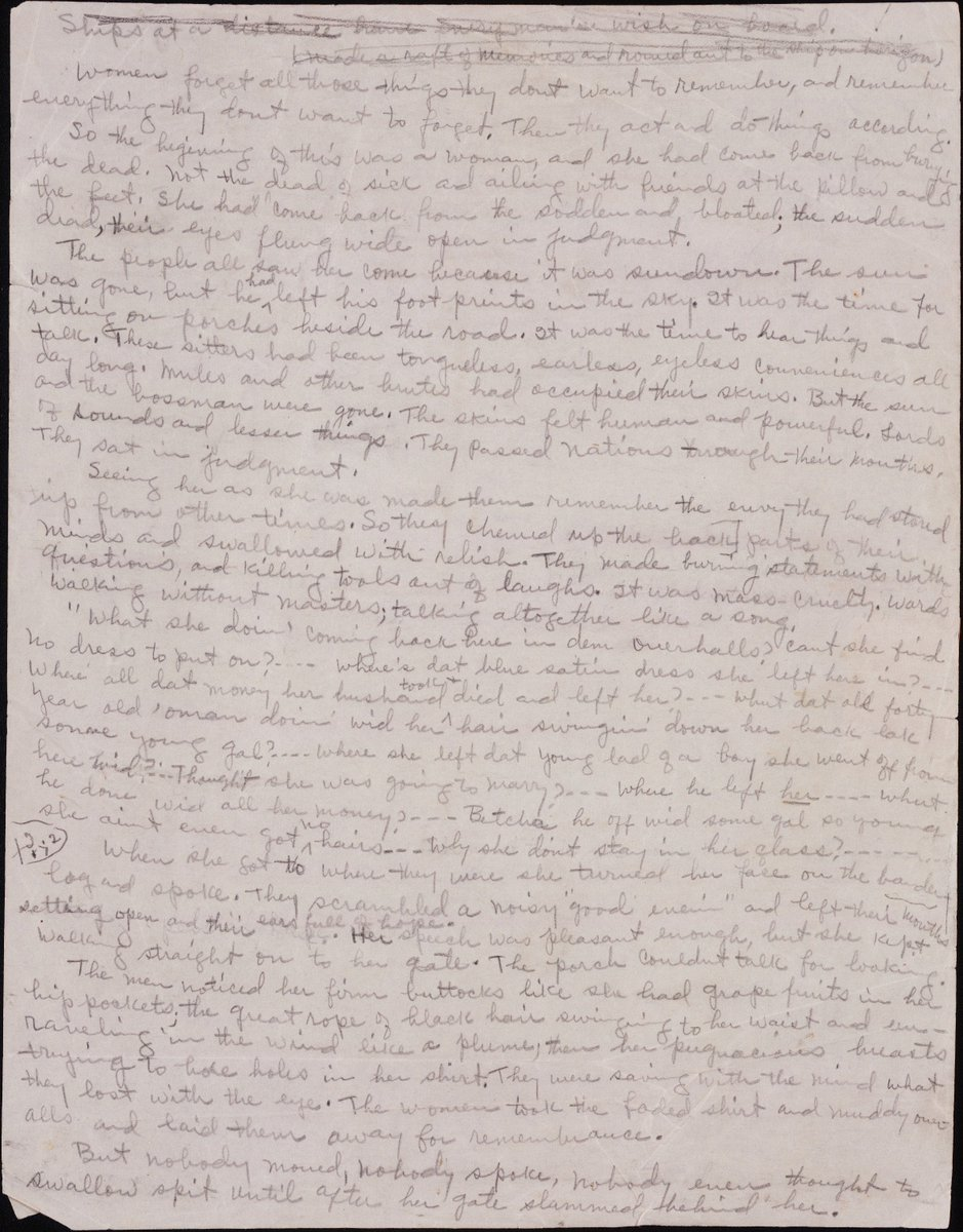 Happy bday to Zora Neale Hurston! Their Eyes Were Watching God manuscript @BeineckeLibrary: https://t.co/F4OnmHQuGM https://t.co/HdRCNR3tz2