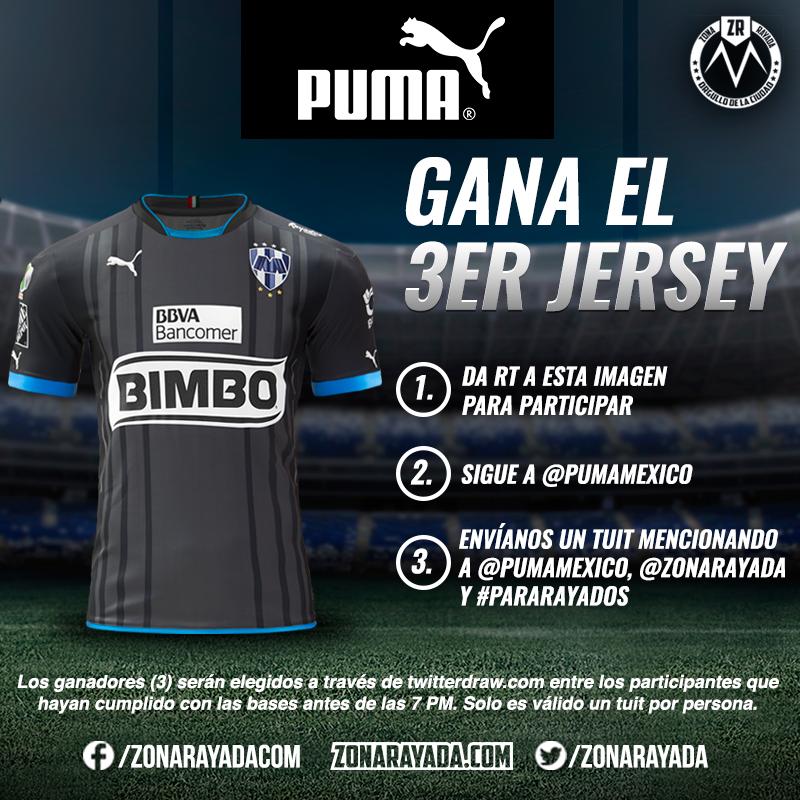 #ParaRayados Aquí la dinámica para participar por uno de los tres nuevos jerseys que tenemos para ti @PUMAmexico https://t.co/8VvolAIECq