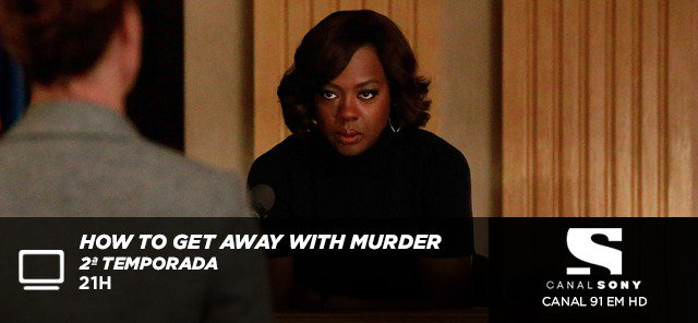 Estreia da 2ª temporada de How to Get Away with Murder, hoje, às 21h, no @CanalSony HD (91)! #MurderNoSony https://t.co/XZbLG2NQUU