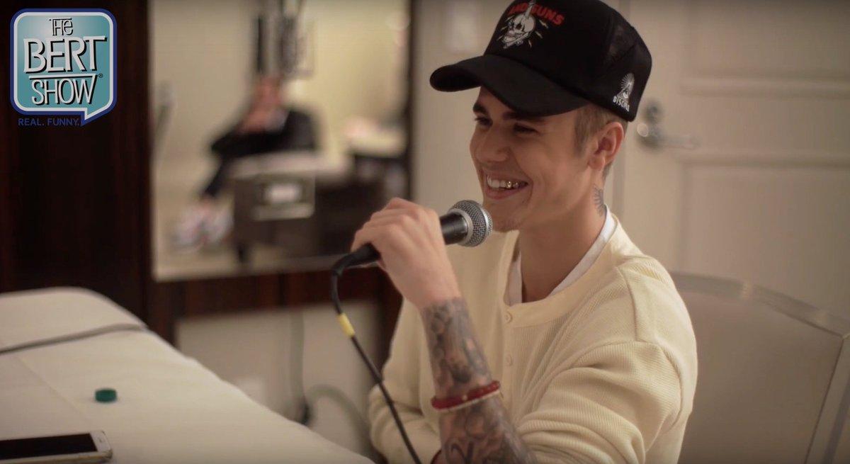 He's raw. He's real. Our ENTIRE interview @JustinBieber is up: https://t.co/03d0Ei3WTt #BieberOnTheBertShow https://t.co/EwKiQ1vweW