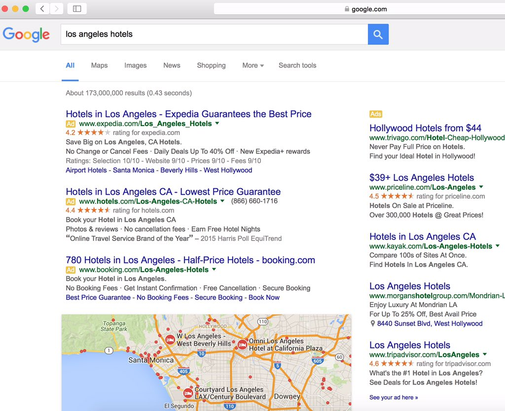 100% of above-the-fold search results are sponsored links, hmm https://t.co/DtzHNJxJlm