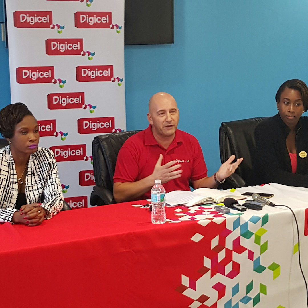 The VAT is on us! Digicel Regional CEO Paul Osborne says VAT increase won't be passed on to customers #VatIsOnUs https://t.co/3l2Ea86jpy