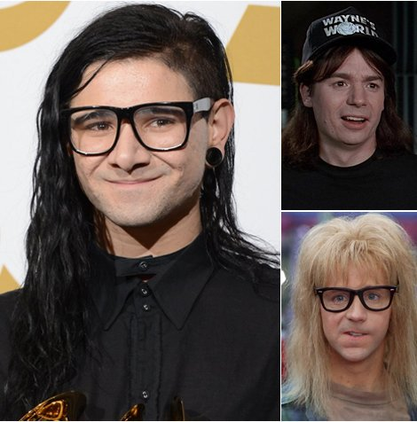 Wayne + Garth = @Skrillex https://t.co/G3pHFKHf3F