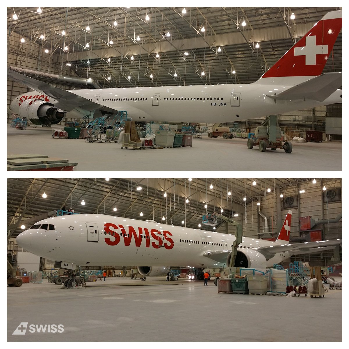Excited to present you the final outfit of the B777. A whopping 416l of paint were used for this amazing guise. https://t.co/16WnS1vDad