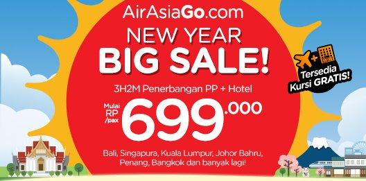 Terbang ke destinasi favorit, dr @AirAsiaGoID 3H2M Hotel + Tiket + Pajak mulai Rp 699rb! Cek