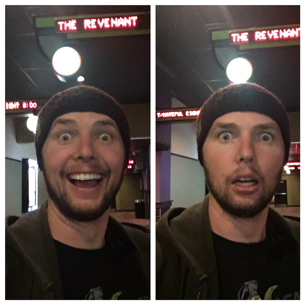 Before and after seeing the @RevenantMovie