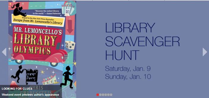 On 1/12 @CGrabenstein visits #Princeton so we're having a scavenger hunt this weekend. https://t.co/7jm2VCOOzZ https://t.co/3lfP3l2Uvm