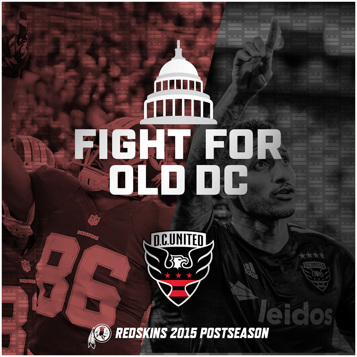 You like that, D.C.?! #NFLPlayoffs   Good luck to the @Redskins this weekend! #FightForOldDC #HTTR https://t.co/yeKZNcOddX