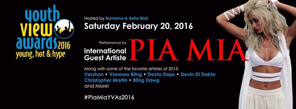 Who's ready to see @princesspiamia KILL it on stage at the 2016 YVAs? Its going to be E-P-I-C! #PiaMiaYVAs2016 ✨ https://t.co/luZQN2e1zn