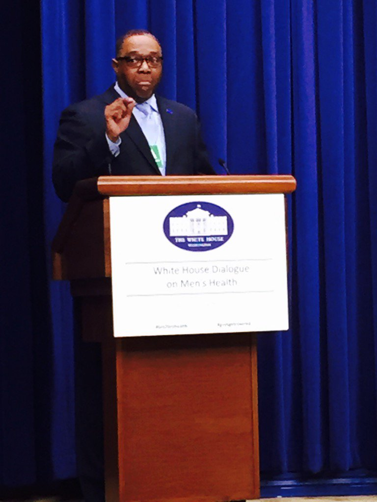 Kenneth Braswell Exec Dir of Fathers, Inc. #bro2brohealth @ White House Men's Health Dialogue https://t.co/duMx9NBoj6