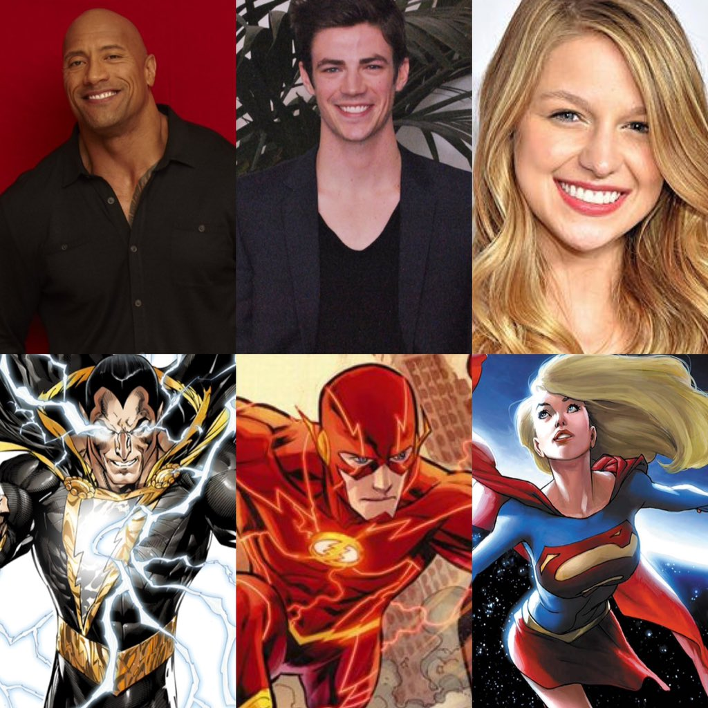 .@TheRock @grantgust @MelissaBenoist are presenting @ #GoldenGlobes but I just see #BlackAdam #TheFlash & #Supergirl https://t.co/gZX3bcXU2T