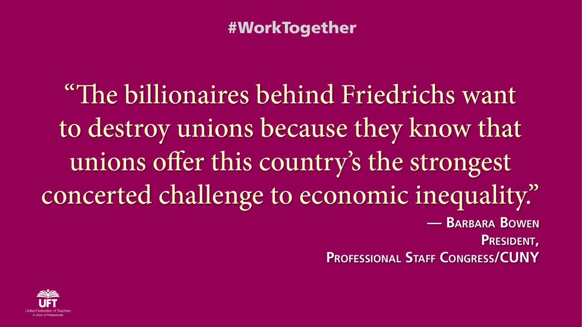 It's time the #Friedrichs plaintiffs understand their billionaire backers have no clue how important unions are https://t.co/TIQY5u62dS