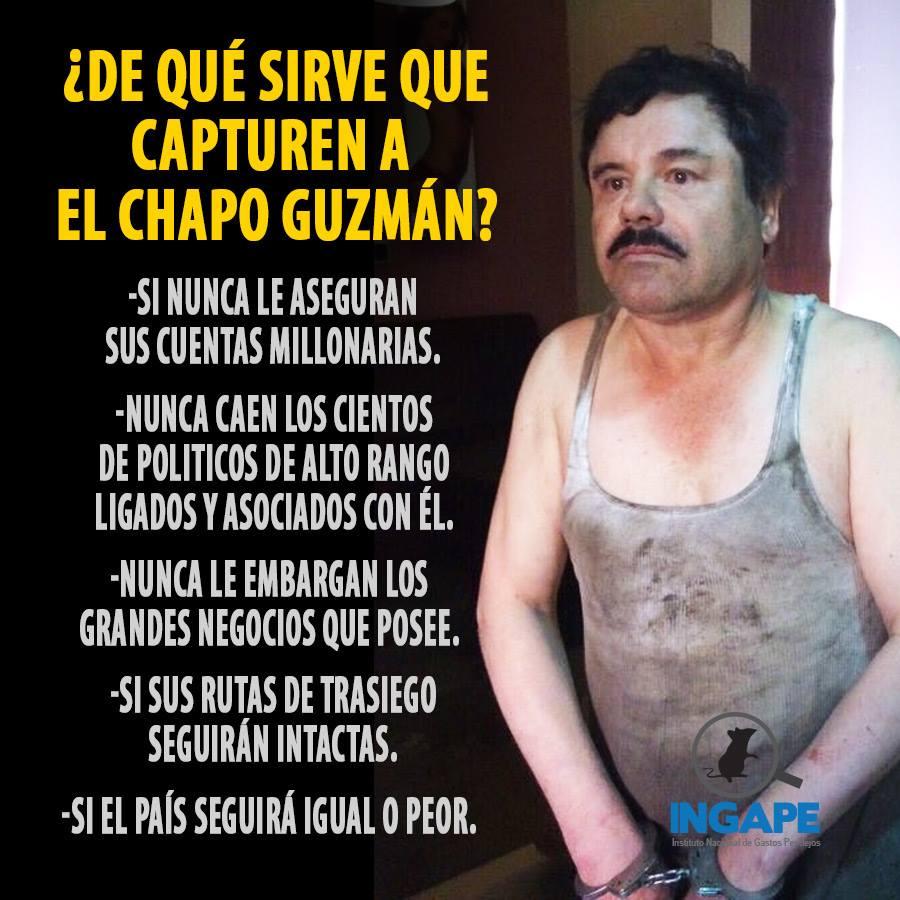 Hey @EPN aparte de lo mediático... ¿De qué servirá la rerererecaptura del #Chapo? https://t.co/qBHmZ0MI1o