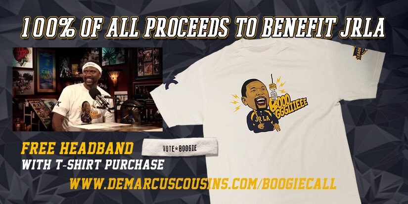 The @JalenRose BOOOGGGIIIEEE shirt! RT for ur chance to win oneDeMarcus Cousins #NBAVote