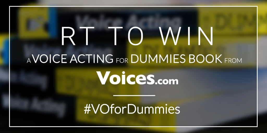 WIN a Voice Acting for Dummies book from @Voices! Just RT this status to be entered. Closes 01/22/16.  #VOforDummies https://t.co/5NvoOJhnz4