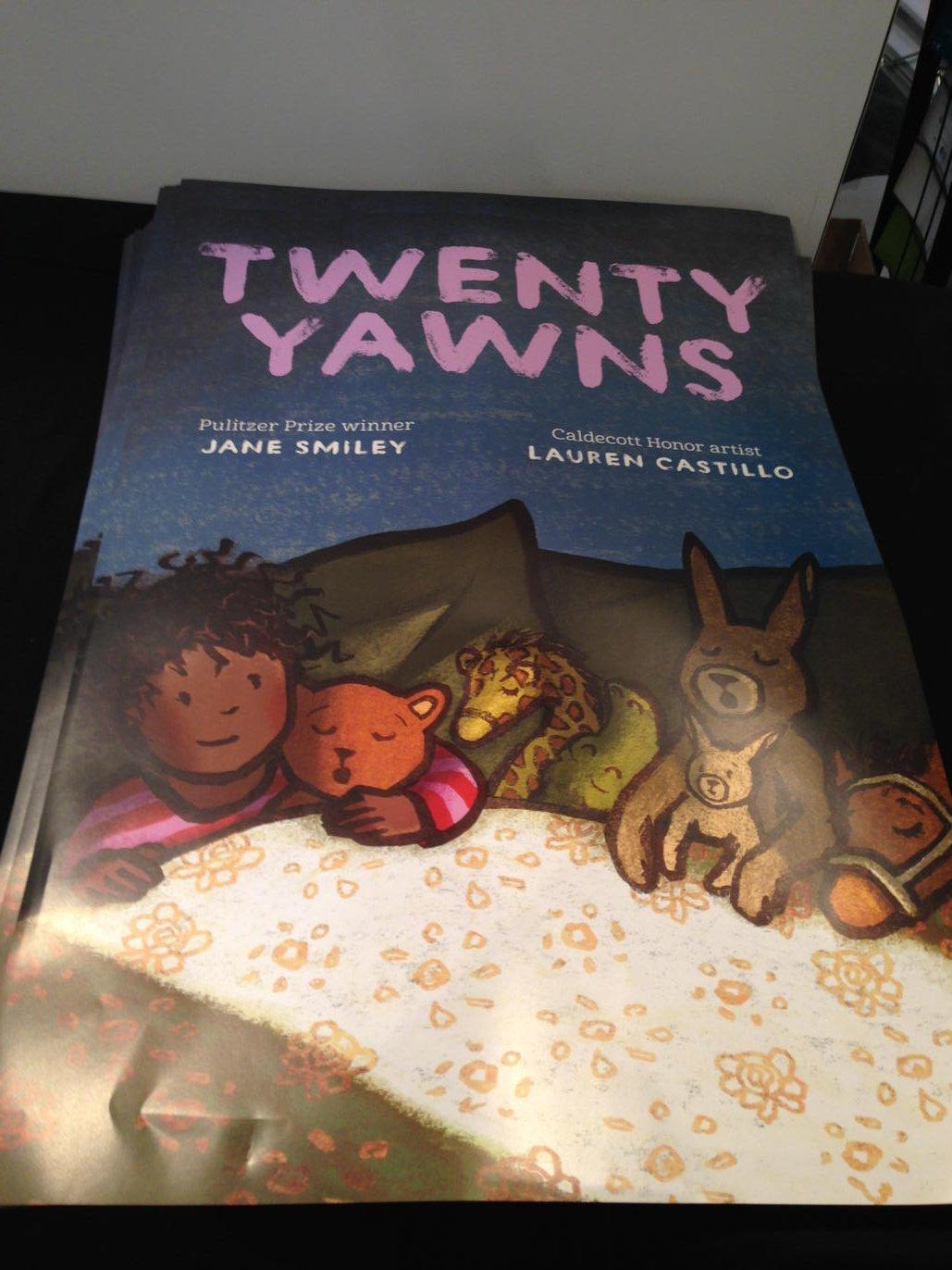 TWENTY YAWNS by Jane Smiley @studiocastillo POSTER & F&Gs signed by Lauren @bakerandtaylor booth #1331 #alamw16 10AM https://t.co/KkF7S03cFk