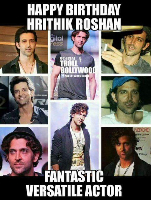 Happy bday hrithik Roshan we a luv uh a lot Best wishes from me n mah mom a big fan ours for bless uh Keep smiling