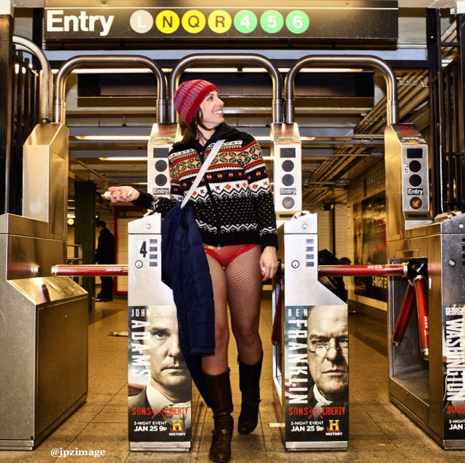 No pants? No problem. Tomorrow is the annual @ImprovEvery No Pants Subway Ride: https://t.co/UyMR0U7Tqd https://t.co/4B6ovupXo2