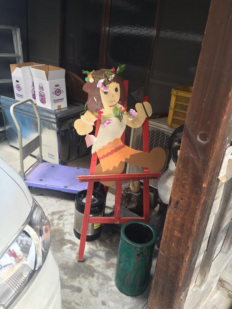 松来さんの件で花飾りがされているほぼろ亭 #tamayura #たまゆら https://t.co/AGgdySyAV0