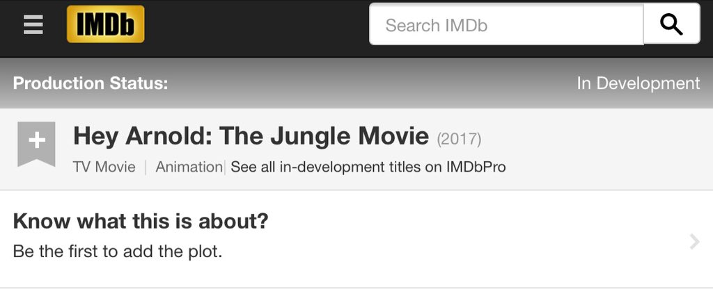 """The Jungle Movie"" is on IMDb! Who's ready for 2017?"