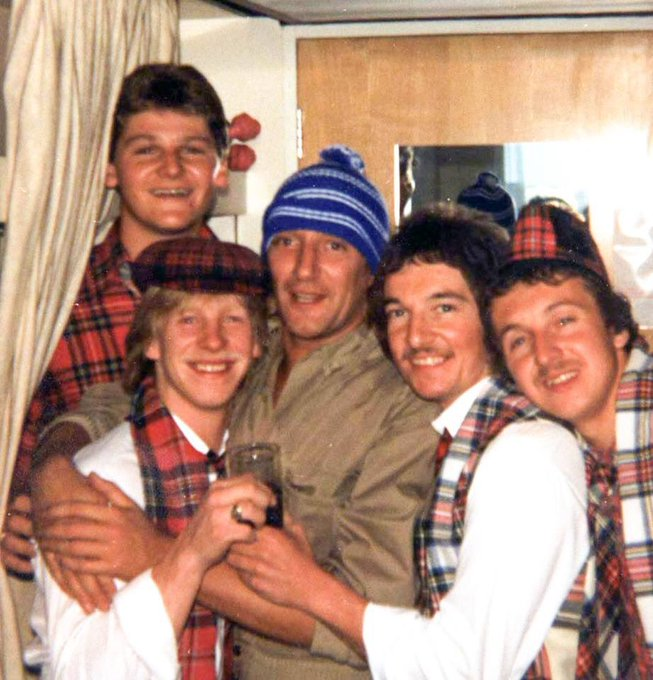 Happy Birthday Rod Stewart  These photos were taken 37 years ago away to see a Scotland England game