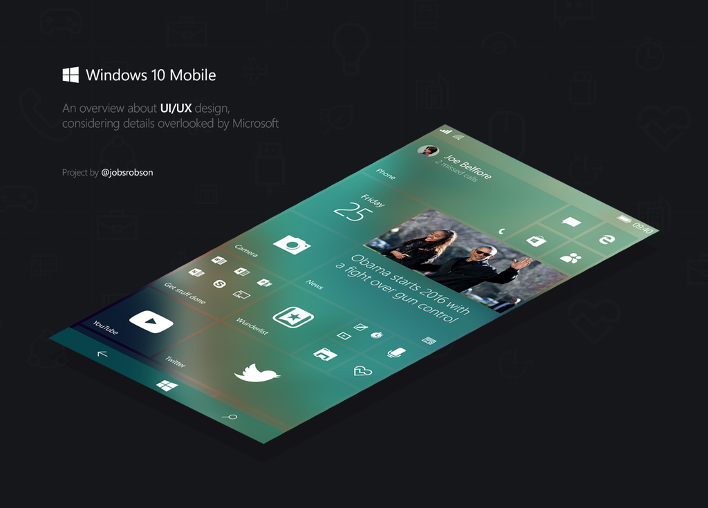 Designer envisions a more polished Windows 10 Mobile user interface (concept pictures) - https://t.co/VMMJq96DNF https://t.co/FpyropRURv