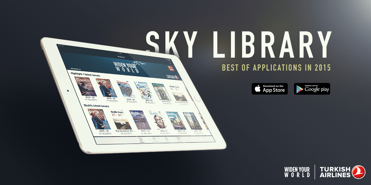 Our Sky Library App is among one of the best apps of 2015 chosen by @aquafadas!