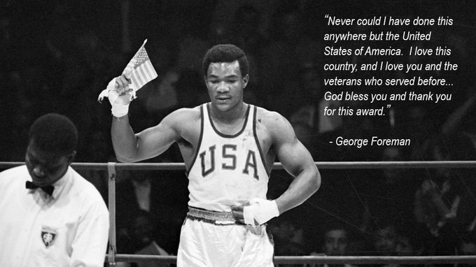 Happy birthday George Foreman!  Wish you all the best champ!